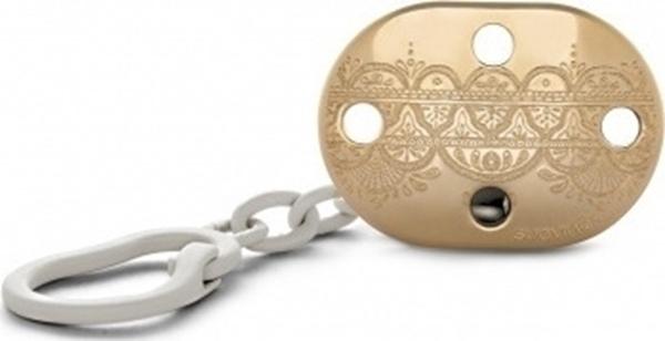 Suavinex Κλιπ Πιπίλας Premium Couture, Gold White