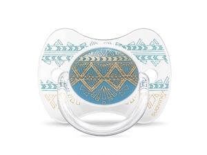 Picture of Suavinex Πιπίλα Σιλικόνης Premium Couture, 4-18M Light Blue