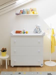 Picture of Pali Συρταριέρα Eco Plus, White + Πτυσόμενο Μπανάκι