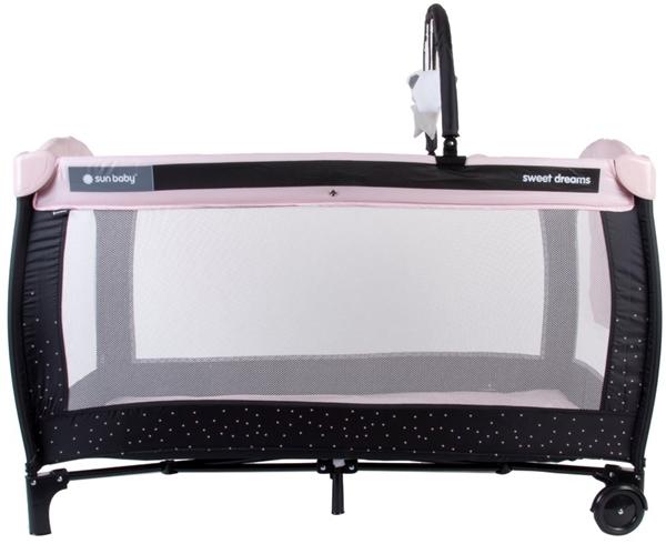 Picture of SunBaby Παρκοκρέβατο με 2ο Επίπεδο Sweet Dreams Pink