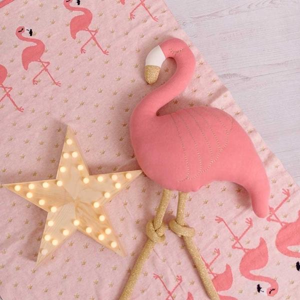 Picture of Bizzi Growin Βαμβακερή Κουβέρτα FLamingo
