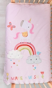 Picture of Bizzi Growin Βαμβακερό Πάπλωμα Rainbow and Unicorns