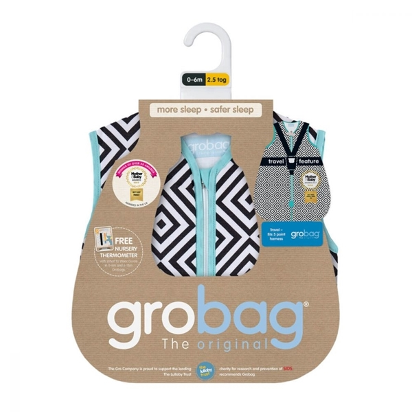 Picture of GroBag Υπνόσακος Travel 2.5 tog 18-36 μηνών Jet Diamonds