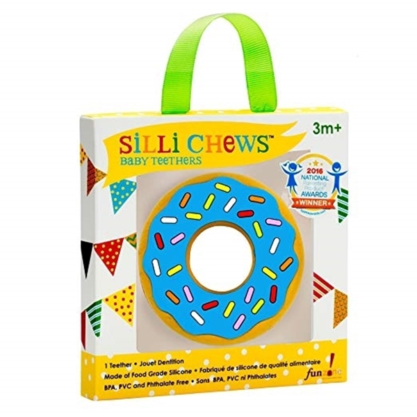 Silli Chews™ Μασητικό Σιλικόνης Blue Donut
