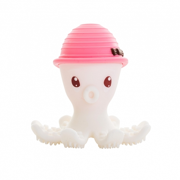Baby To Love 3D Μασητικό Σιλικόνης Pink Octopus