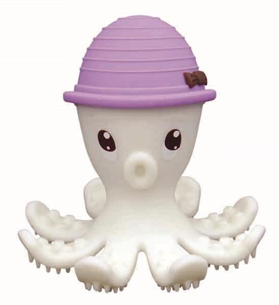 Baby To Love 3D Μασητικό Σιλικόνης Purple Octopus