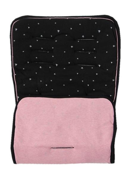 Minene Κάλυμμα Καροτσιού Black/Pink Sprinkles