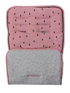 Minene Κάλυμμα Καροτσιού Pink/Black Diamonds Dots