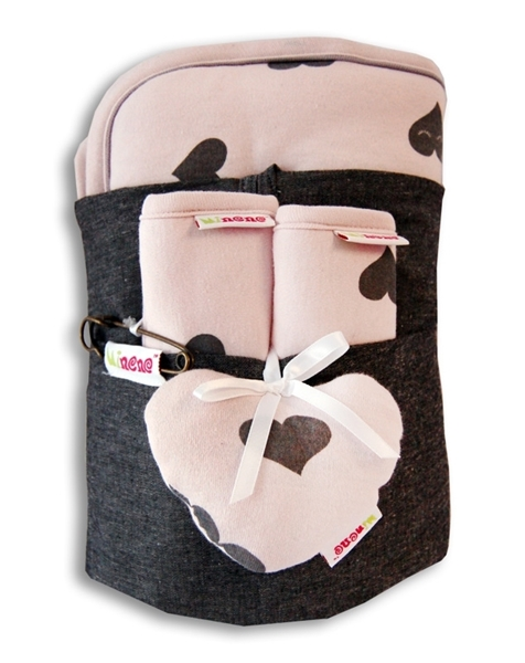 Minene Κάλυμμα με Επωμίδες Ζέρσεϋ Ροζ Καρδιές