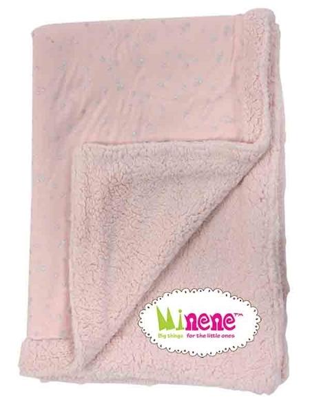 Minene Luxurious Κουβερτα Pink Glitter Stars