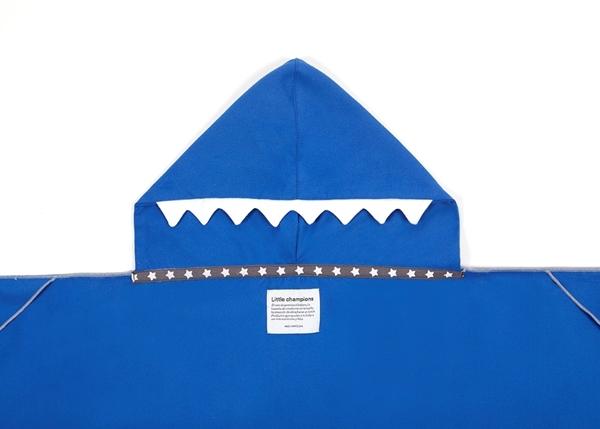 Little Champions Πόντσο / Πετσέτα Microfiber, Blue Shark