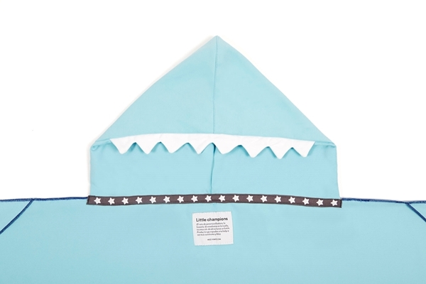 Little Champions Πόντσο / Πετσέτα Microfiber, Light Blue Shark
