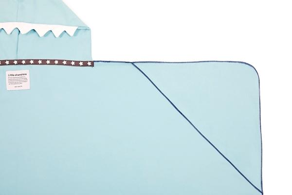 Little Champions Πόντσο / Πετσέτα Microfiber, Light Blue Shark