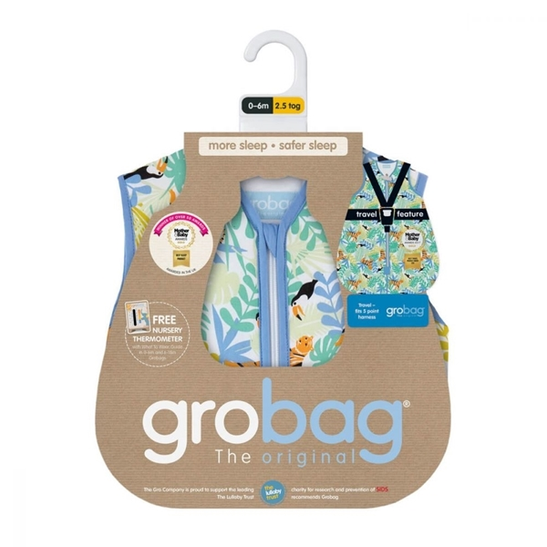 GroBag Υπνόσακος Travel 2.5 tog 18-36 μηνών Tiger Tastic