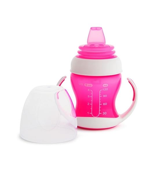 Munchkin Εκπαιδευτικό ποτηράκι - Gentle First Cup Pink 118ml.