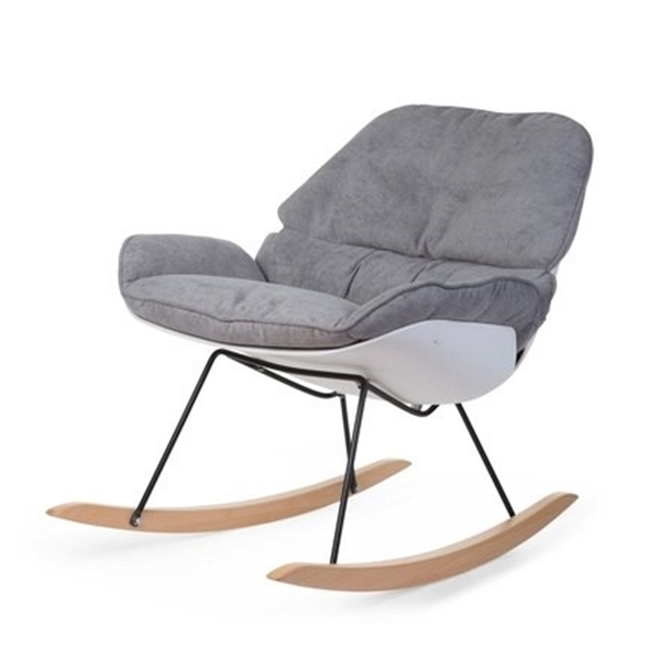 ChildWood Κουνιστή Πολυθρόνα Θηλασμού Rockin Lounge White & Grey