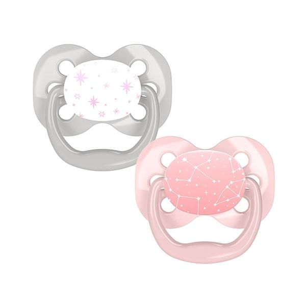 Dr. Browns Πιπίλες Advantage Πεταλούδα 0-6 μηνών (2τεμ) Ρόζ