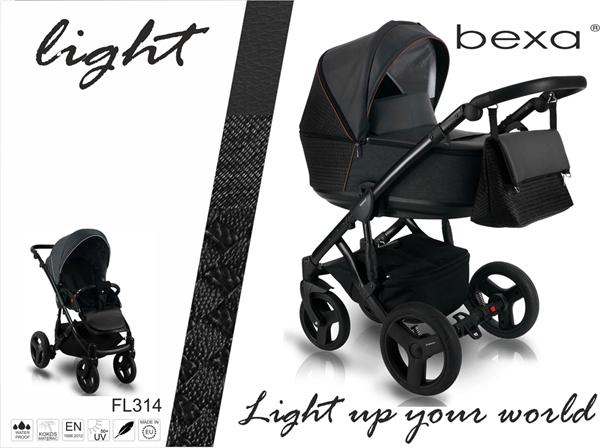Bexa Καρότσι 2 σε 1 Light Eco Leather, FL314