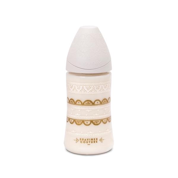 Suavinex Πλαστικό Μπιμπερό 360ml. New Couture Gold Yellow