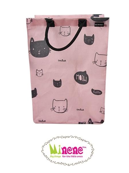 Minene Μεγάλο Καλάθι Απλύτων Pink Cat