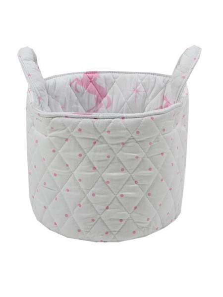 Minene Μικρό Καλάθι Αποθήκευσης Λευκό-Ροζ Unicorn