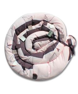Minene Πολυχρηστικό Μαξιλάρι – Snuggly Snake Πικέ 3D Ρόζ