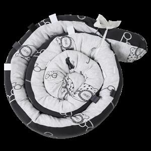 Minene Πολυχρηστικό Μαξιλάρι – Snuggly Snake Cotton Grey Bear