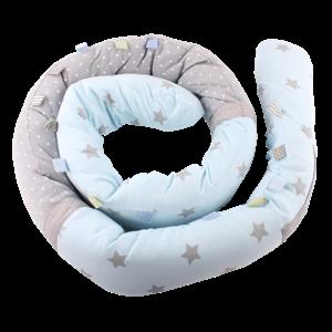 Minene Πολυχρηστικό Μαξιλάρι – Snuggly Snake Cotton Μπλέ Αστέρια