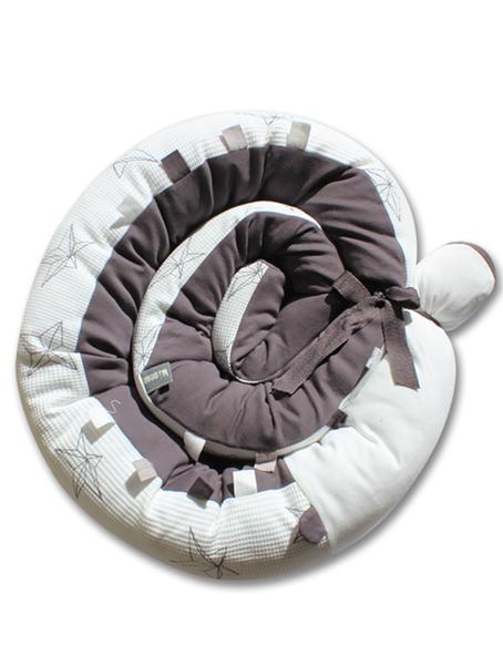 Minene Πολυχρηστικό Μαξιλάρι – Snuggly Snake Πικέ 3D Λευκό