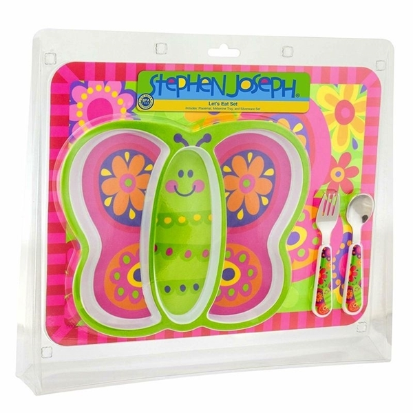 Staphen Joseph Παιδικό Σετ Φαγητού, Butterfly