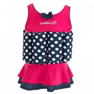 Konfidence Μαγιώ σωσίβιο Float Suit Pink - Navy Polka 2-3 Ετών