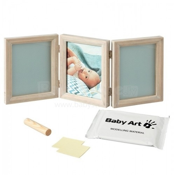 Baby Art Κορνίζα Αποτύπωμα Wooden Double Frame - Stormy