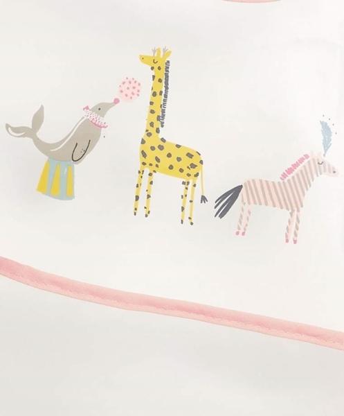 Mamas & Papas Σαλιάρα με Τσέπη Circus Pink