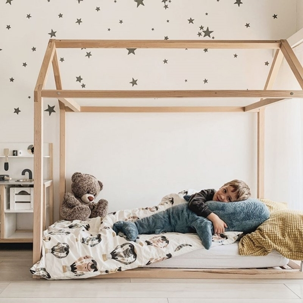 CHILDHOME Πλαίσιο Kκρεβατιού TIPI 70*140 cm Natural