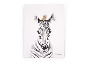 Childhome Πίνακας Zebra Head Gold