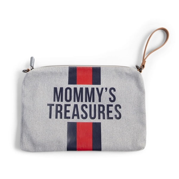 Childhome Νεσεσέρ Mommy Treasures Grey Stripes Red/Blue