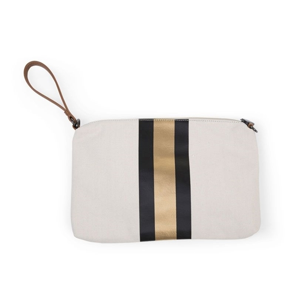 Childhome Νεσεσέρ Mommy Treasures Off White Stripes Black/Gold