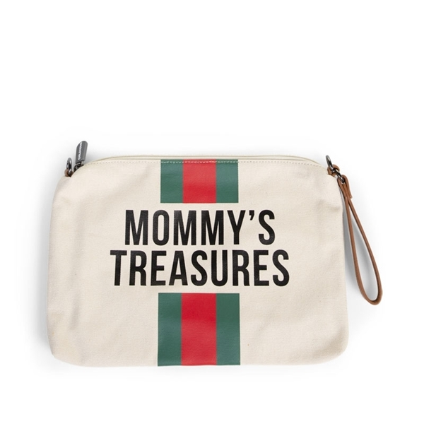 Childhome Νεσεσέρ Mommy Treasures Off White Stripes Green/Red