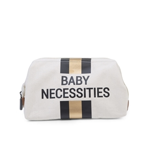Childhome Νεσεσέρ Baby Necessities Off White Stripes Black/Gold