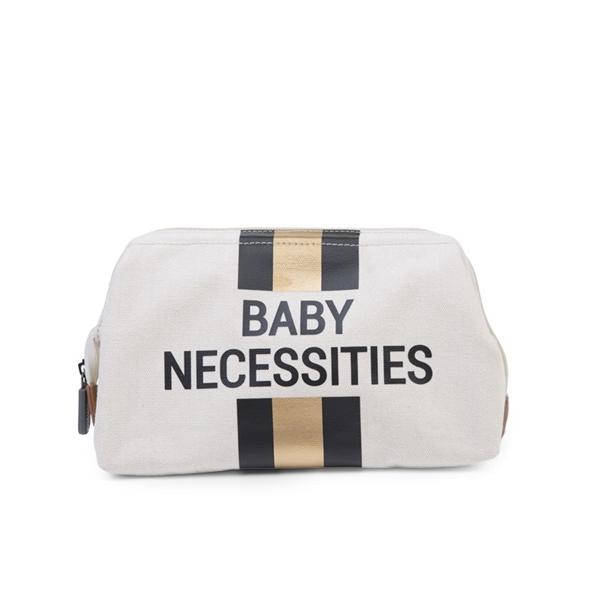 Childhome Νεσεσέρ Baby Necessities Off White Stripes Black/Gold
