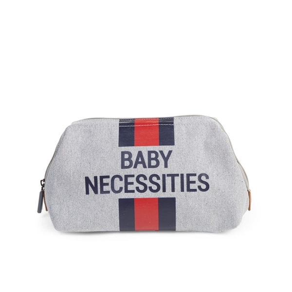 Childhome Νεσεσέρ Baby Necessities Grey Stripes Red/Blue