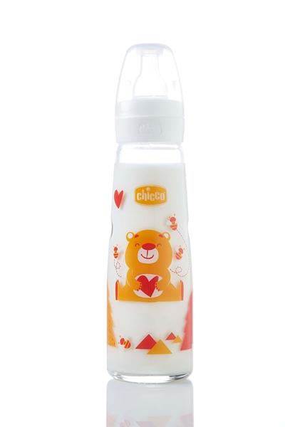 Chicco Γυάλινα Μπιμπερό Simply Glass 240ml Bear