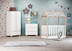 Casababy Κρεβάτι Τύπου Μοντεσσόρι La Maison Set, Natural White