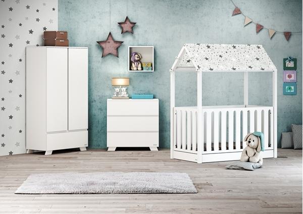 Casababy Κρεβάτι Τύπου Μοντεσσόρι La Maison Set, White