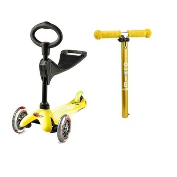 Micro Mini 3in1 Deluxe - Παιδικό Πατίνι Yellow
