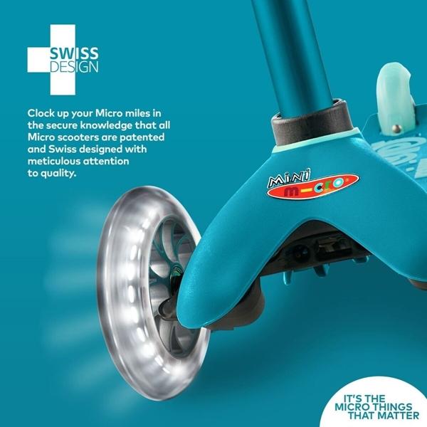 Micro Mini Deluxe LED - Παιδικό Σκούτερ Aqua