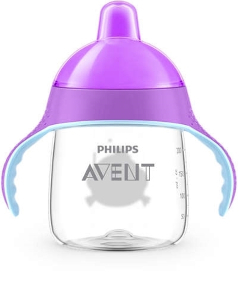 Philips Avent Κύπελλο 260ml με λαβές Μωβ