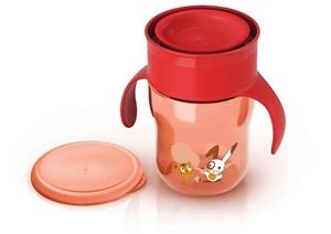 Philips Avent Κύπελλο εκμάθησης 260ml με λαβές Κόκκινο