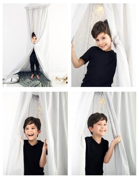 CozyDots Παιδική Κουνουπιέρα Canopy Tent Grey Frill