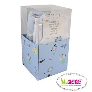 Minene Square Gift Box Circus - Light Blue